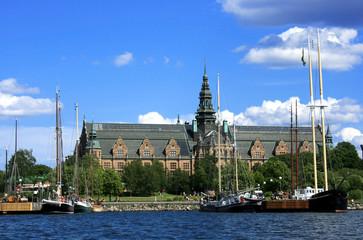 Stockholm Stadtansicht mit Nordic Museum