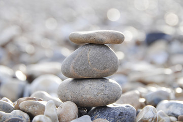 A stack of pebbles