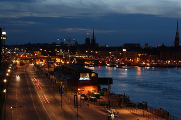 Slussen at night