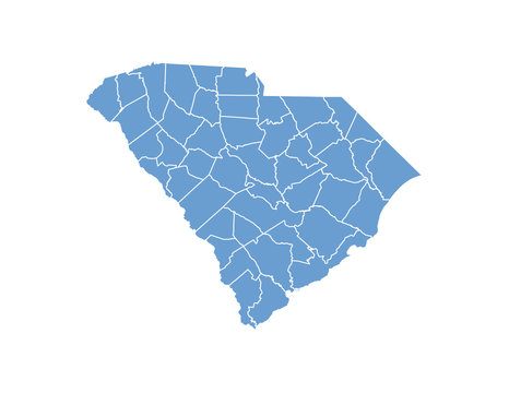 South Carolina map in vector