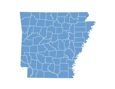 Arkansas map in vector