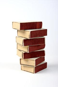 Stack of seven matchboxes