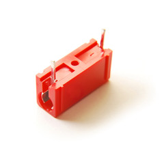 red capacitor isolated