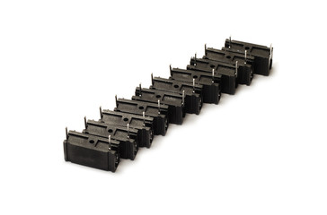 black capacitors isolated