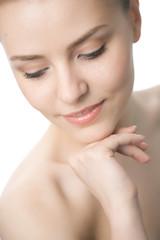 beauty woman closeup face