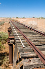 Old Ghan Railway track by the Oodnadatta Track