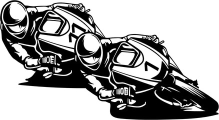 Wall Mural - MOTARDS