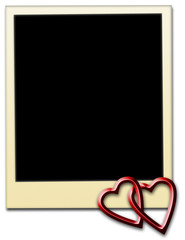 Photo frame with hearts