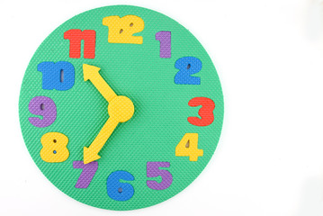 Colorful toy clock