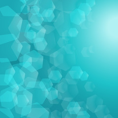 Abstract Turquoise background. Vector.
