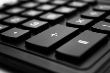 Calculator key closeup