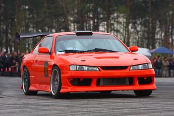 Printed roller blinds Fast cars Orange sport car