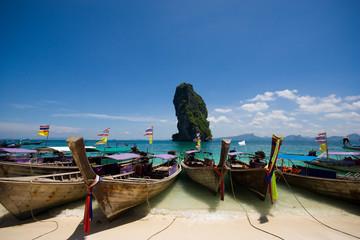Boat at Por-da Island , Krabi Thailand