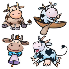 Cute small cows.