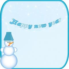 banner snowman