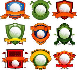 Vector golf logo