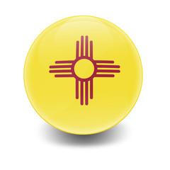 Esfera brillante con bandera Nuevo Mexico