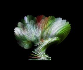 Mystical green fractal tree