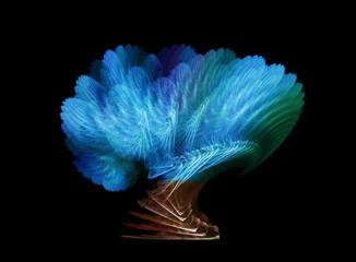 Mystical blue fractal tree