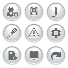 Gray web buttons 6