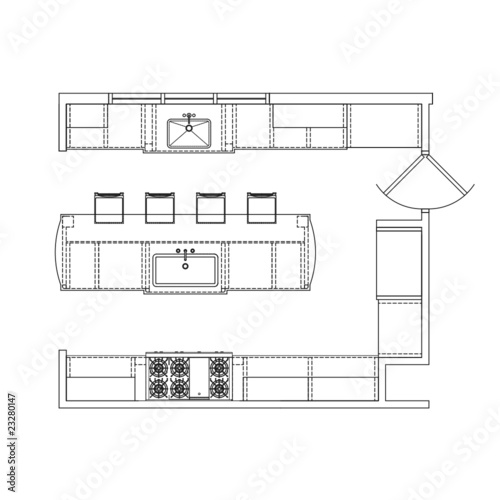 Line Drawing Kitchen : Quot kitchen line drawing stock image and royalty free vector