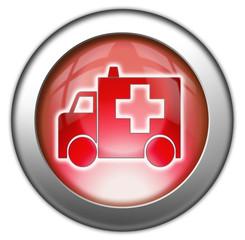 """Glossy 3D effect button """"Ambulance"""""""