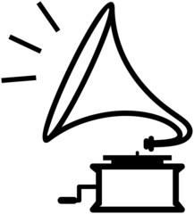 Gramophone – Vector illustration