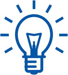 Shining light bulb – Vector illustration