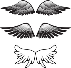 tattoo wings silhouette vector