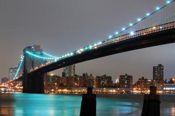 Wall Mural - NEW YORK CITY WITH BROOKLYN BRIDGE