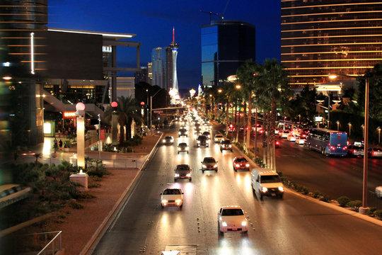 Night street traffic