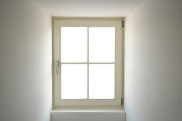 window with white space