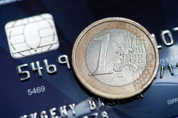 1 euro and credit card