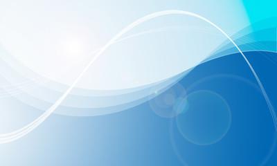 薄い青から濃紺へのグラデーションと線と逆光