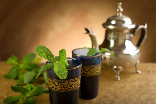 moroccan mint tea- te marocchino alla menta
