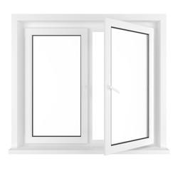 Half opened window