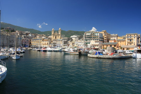 vieux port de bastia (haute corse)