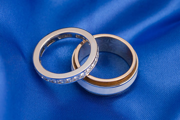 Two wedding gold ring
