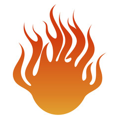 Fiery banner