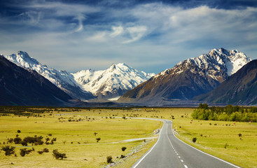 Foto op Canvas Alpen Southern Alps, New Zealand