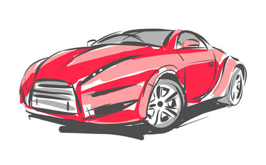 Concept car vector sketch