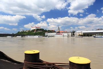 Bratislava Castle Danube river, Slovakia
