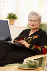 Portrait of modern pensioner