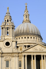 dome and architectural details of cathedral from London