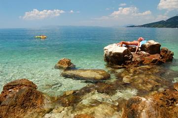 Opalanie na plaży w Chorwacji