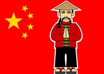Chinois_Drapeau