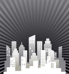 Black and white  real estate background