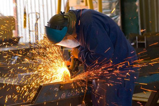Industrial Steel Grinding