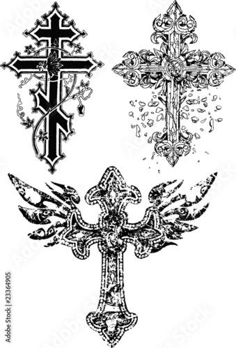 Эскизы крестов православных тату