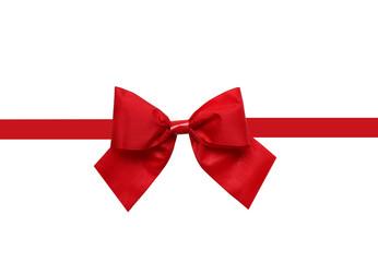 Rote Geschenkschleife auf weiß isoliert